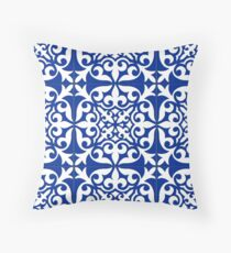 Moroccan tile - cobalt blue Throw Pillow
