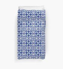 Moroccan tile - cobalt blue Duvet Cover