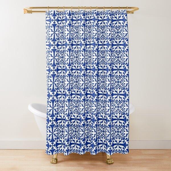 Moroccan tile - cobalt blue Shower Curtain