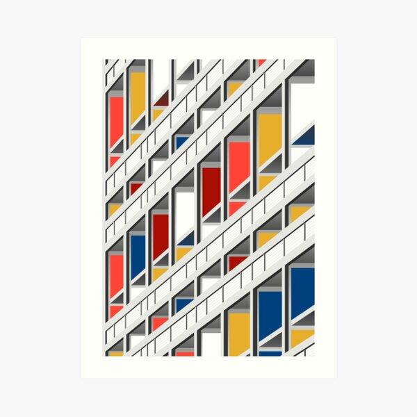 Arquitectura ilustración Le Corbusier Lámina artística