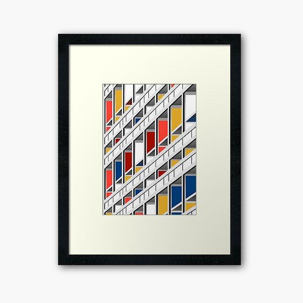 Architecture illustration le corbusier Framed Art Print