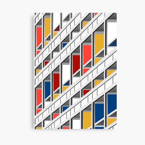 Architecture illustration le corbusier Canvas Print