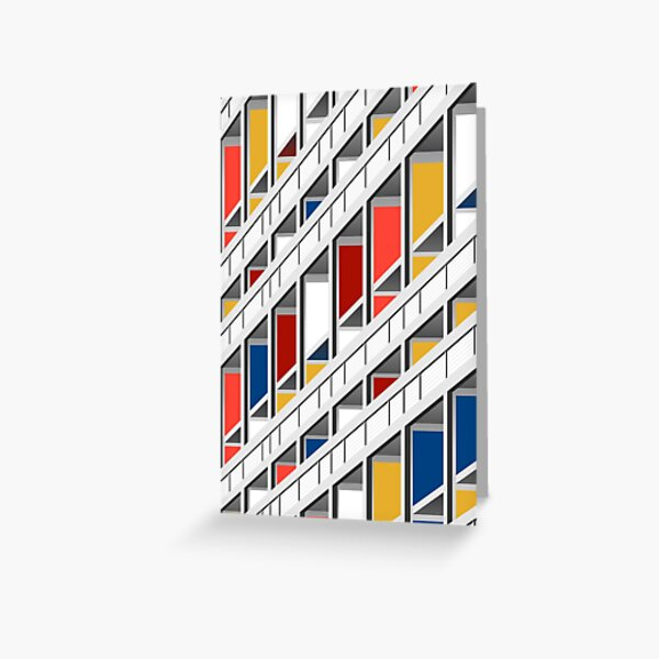 Architecture illustration le corbusier Greeting Card