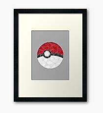 Pokemon Pokeball Geometric Framed Print