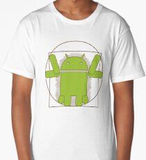 Vitruvian Android Long T-Shirt