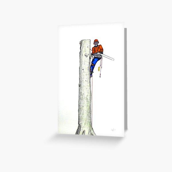 Arborist Tree Surgeon Gift present Greeting Card