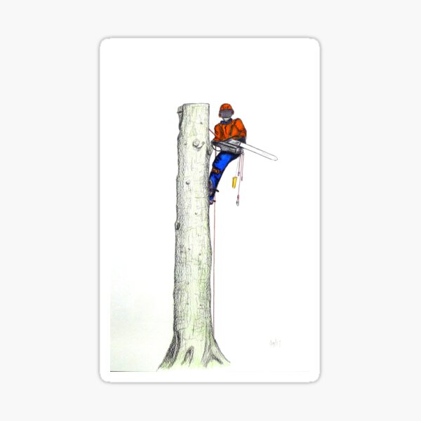 Arborist Tree Surgeon Gift present Sticker