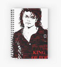 Michael Jackson Tribute  Spiral Notebook