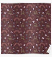 music stars brown Poster