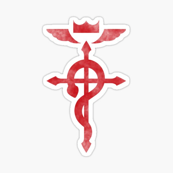 Fullmetal Alchemist Red Logo Sticker