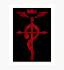 Fullmetal Alchemist Red Logo Art Print
