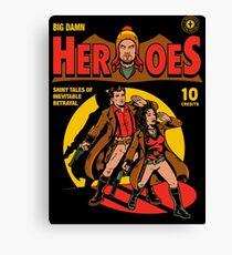 Heroes Comic Canvas Print