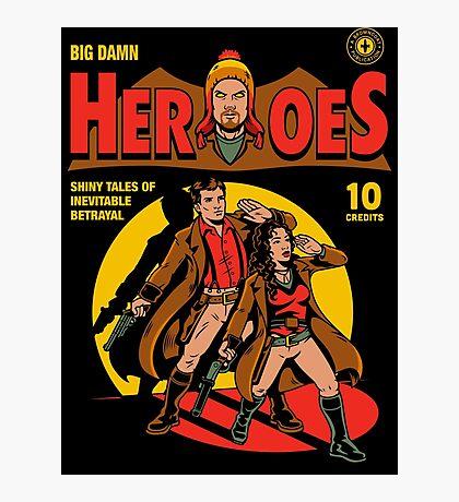 Heroes Comic Photographic Print