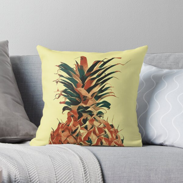 Retro pineapple Throw Pillow