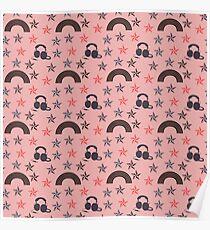 music stars peach Poster