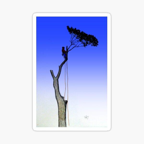 Arborist Tree Surgeon Gift present chainsaw Sticker