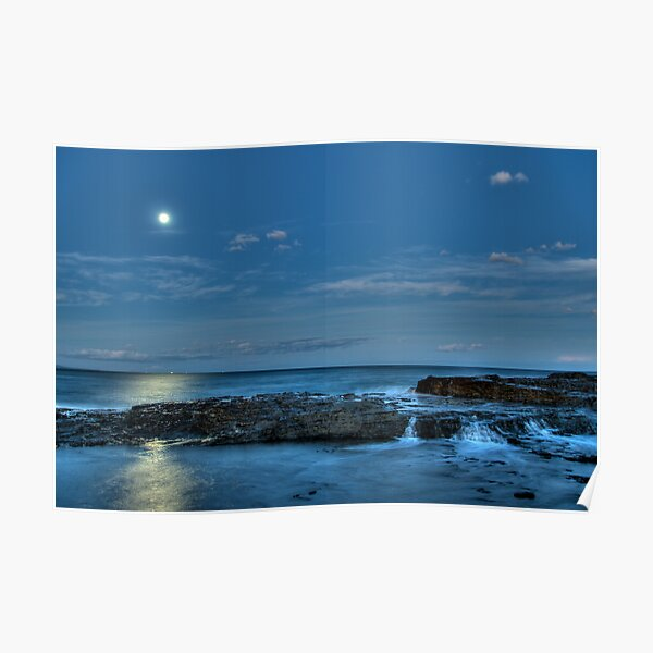 Twilight Moonrise Wollongong Poster