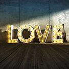 Lights Of LOVE - light bulb letters von Black Sign Artwork
