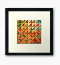 Contemporary Sunny Geometric Design  Framed Print