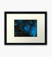 Deep Blue Space Framed Print