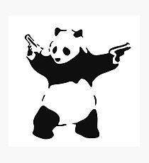 Banksy - armed Panda Bear Photographic Print