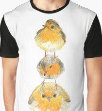 Trio Robin Birds illustration Graphic T-Shirt