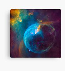 Blue Nebula Space Canvas Print
