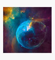 Blue Nebula Space Photographic Print