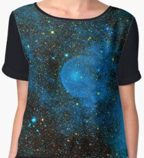Deep Blue Space Chiffon Top