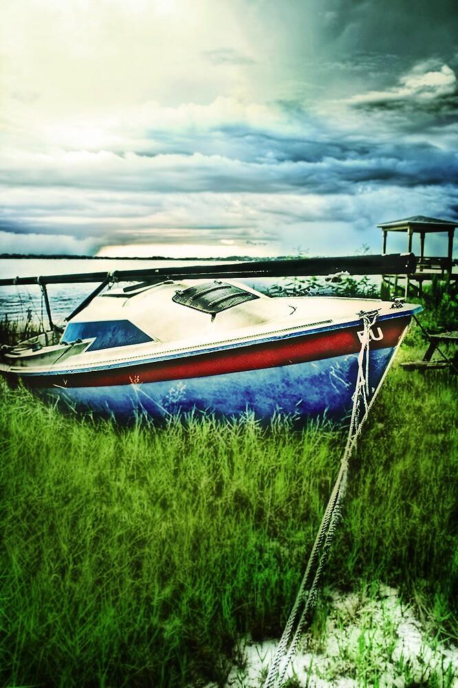 Old blue sail by apriljd