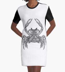 Crab Sketch Graphic T-Shirt Dress