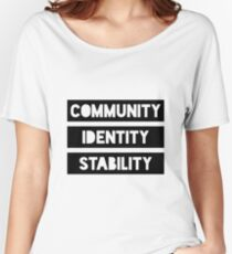 Community Identity Stability Women's Relaxed Fit T-Shirt