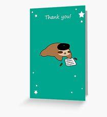 Thank You - Beatnik Sloth Greeting Card