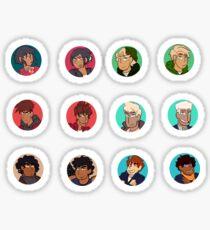 Ninja Circle Stickers FLAT Sticker