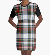Clan Stewart Dress Tartan Plaid Pattern Graphic T-Shirt Dress