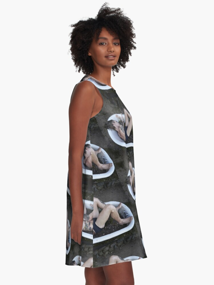 Alternate view of Porcelain Prisons A-Line Dress