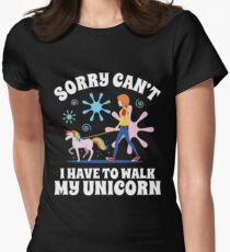 Sorry Can't Have to Walk My Unicorn - Dark Edition T-Shirt