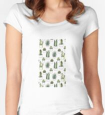Succulent Women's Fitted Scoop T-Shirt