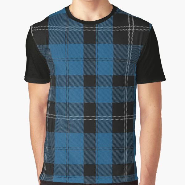 Blue Clan Ramsay Hunting Tartan Plaid Pattern Graphic T-Shirt