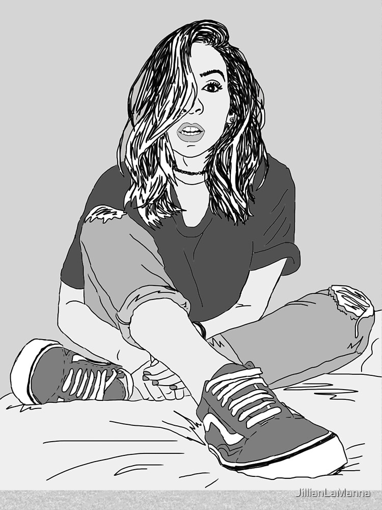 The Gabbie Show line drawing by JillianLaManna