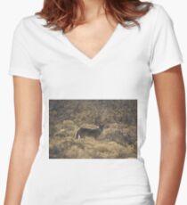 Coyote; Cottonwood, AZ Women's Fitted V-Neck T-Shirt