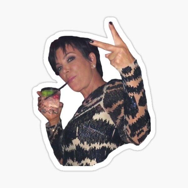 Kris Jenner Peace Sign Sticker