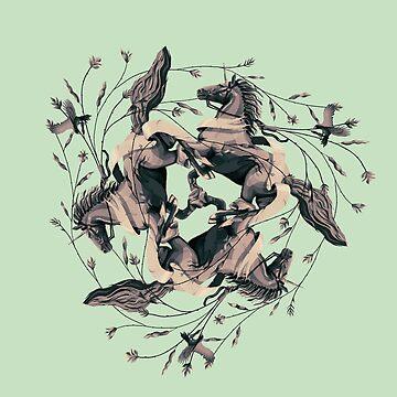 Horses and Birds by erdavid