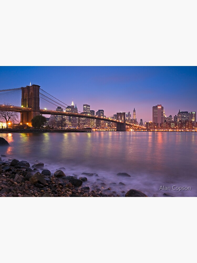 Brooklyn Bridge over East River. New York City. by AlanCopson