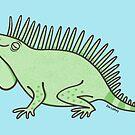 Fat Happy Iguana  by zoel