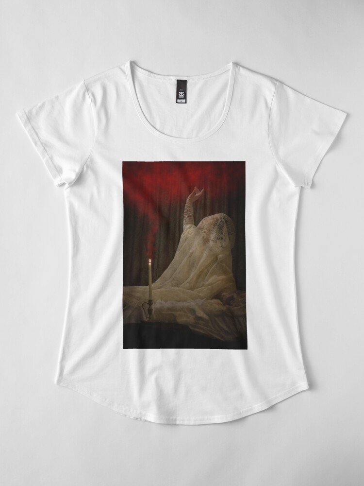 Alternate view of The Queen Lay Dying Of Her Own Will Premium Scoop T-Shirt