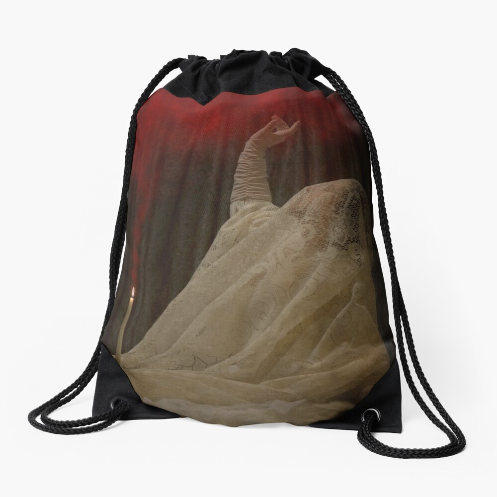 The Queen Lay Dying Of Her Own Will Drawstring Bag