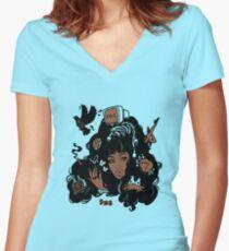 Sza Ctrl Alternate Album Art Women's Fitted V-Neck T-Shirt