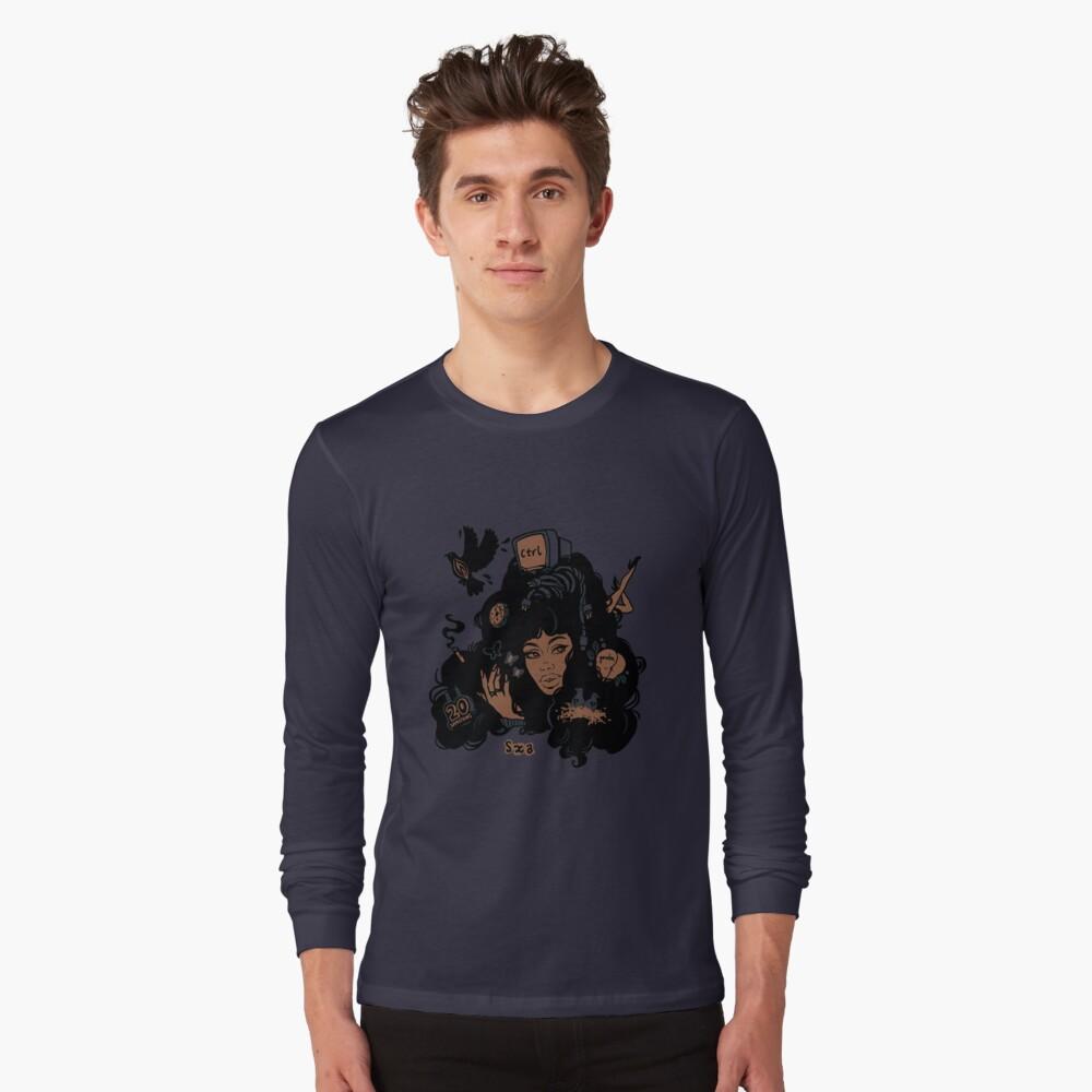 Sza Ctrl Alternate Album Art Long Sleeve T-Shirt Front