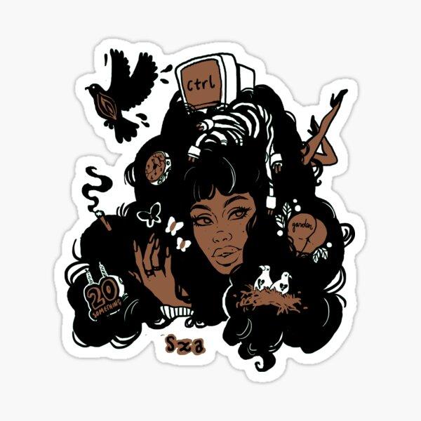 Sza Ctrl Alternate Album Art Sticker